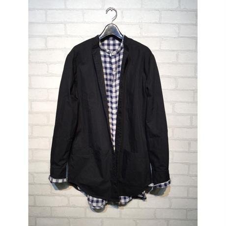 AUD グリストーンW C/N高密度ギャバルーズFIT バンドカラーツールポケシャツ