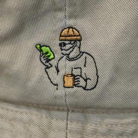 ワンポイント刺繍ツイルバケットハット(全2カラー)