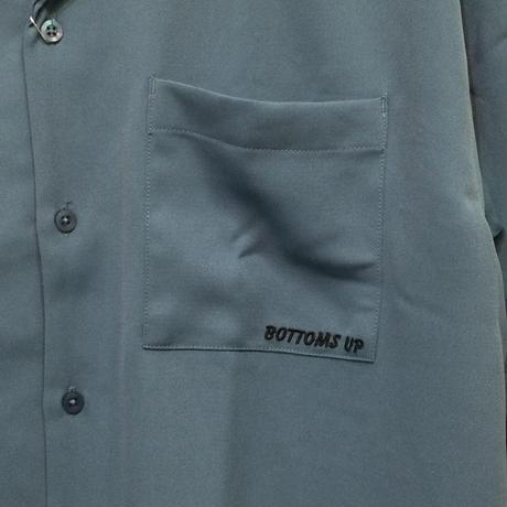 ストレッチバックドリンク刺繍オープンカラーシャツ(全2カラー)