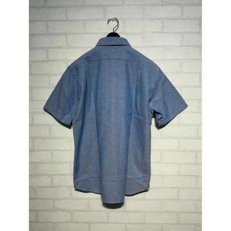 シャンブレー半袖シャツ