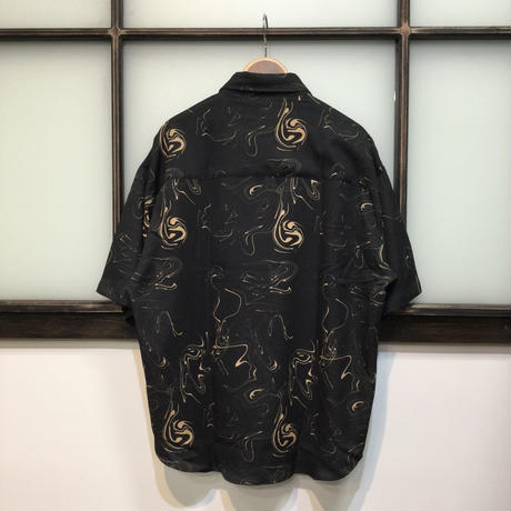 マーブルとろみシャツ(全2カラー)