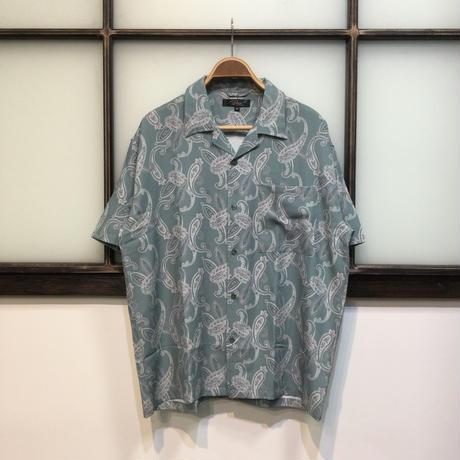 総柄プリントオープンカラーシャツ(全4カラー)