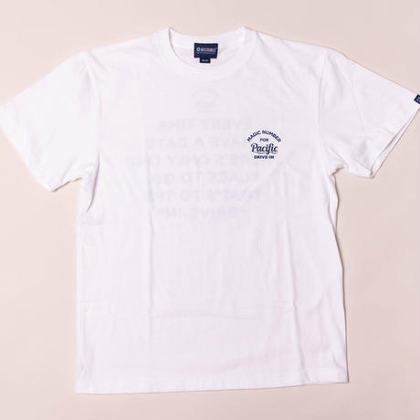 ★MAGIC NUMBER FOR Pacific DRIVE-IN★ S/S TEE WHITE
