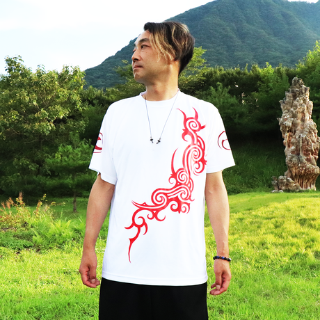 ZEPON TRIBAL - T  (WHT- RED)