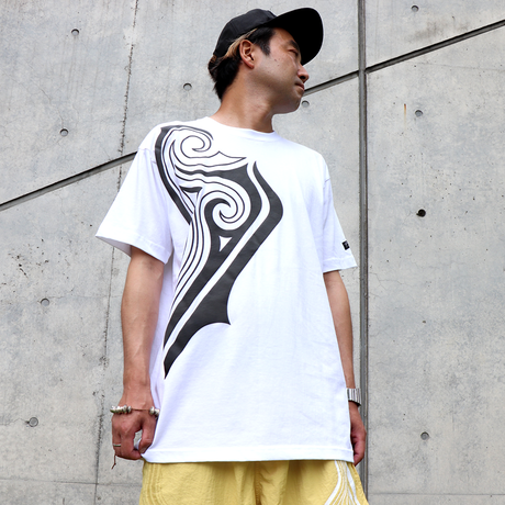 42 TRIBAL BIG T-SHIRTS  ( WHT- BLK )