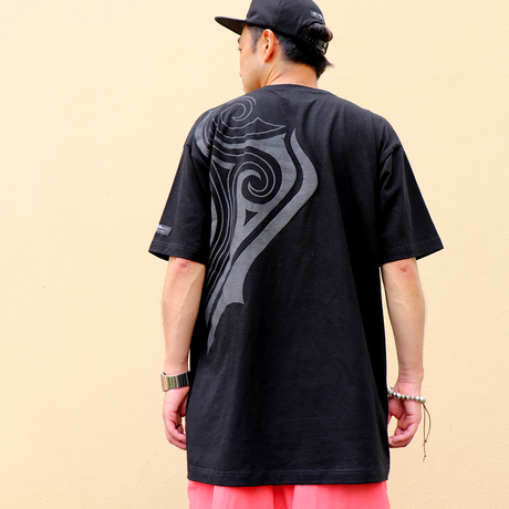 42 TRIBAL BIG T-SHIRTS  ( BLK- BLK )
