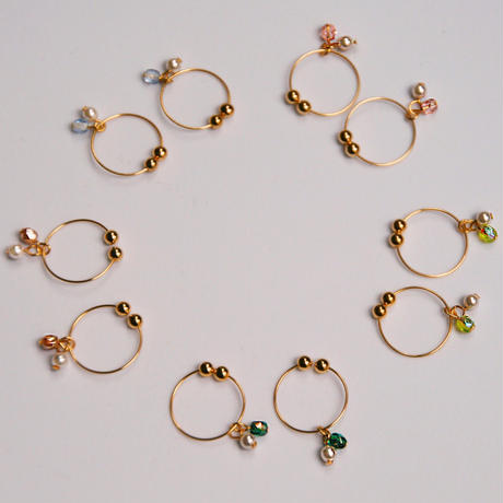 iroiroピアス/イヤリング  by Paso with Peace Pearl