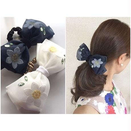 Flower Tulle Ribbon シュシュ