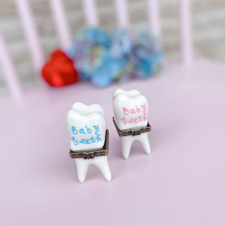 ミニポータリーケース🌼乳歯ケース🌼ブルー