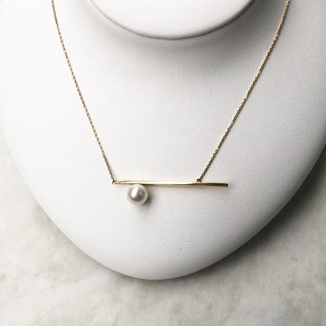 Border line necklace / 18K