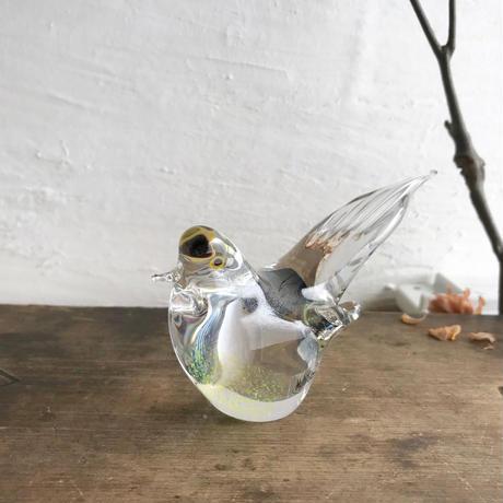 Multi Glass小鳥(青)13cm