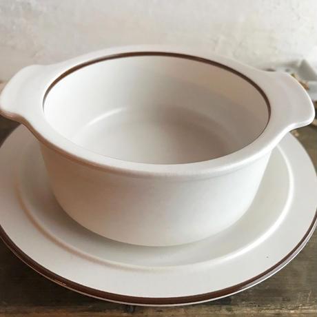 1960-70sグラタン皿&ソーサーsetデットストック