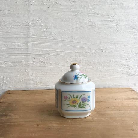 1960-70年japan vintage フレームフラワーシュガーポット