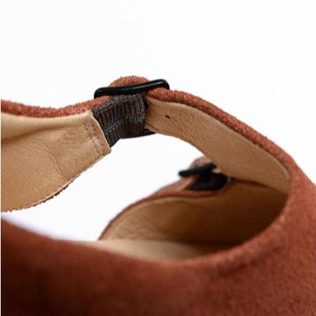 【 UNIONINI 2020SS 】UN-04double monk strap shoes / brick brown  / 22.5-24cm