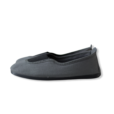 【 La Cadena 】 GIMNASIA   PANEL COLOR SLIP ON / DK GREY ×  BLACK / 17〜21cm