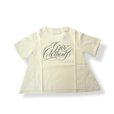 "【 GRIS 21SS 】""Print"" Pull over Shirt [GR21SS-SH005A] ""プルオーバーシャツ"" / Ecru / S-L"