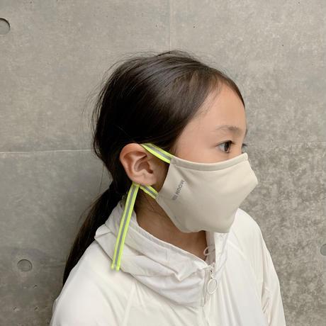 【 MOUN TEN. 20AW 】マスク / サンドベージュ x ネオンイエローテープ