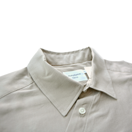 【 nunuforme 20AW 】サークルシャツ [nf14-545-012] / Beige