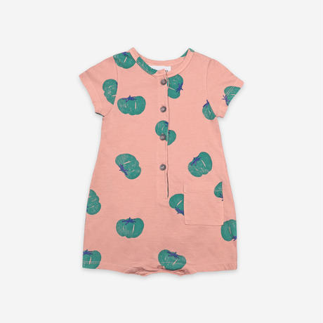 """【 BOBO CHOSES 21SS 】Tomatoes All Over Playsuit(121AB037)""""ロンパース"""""""