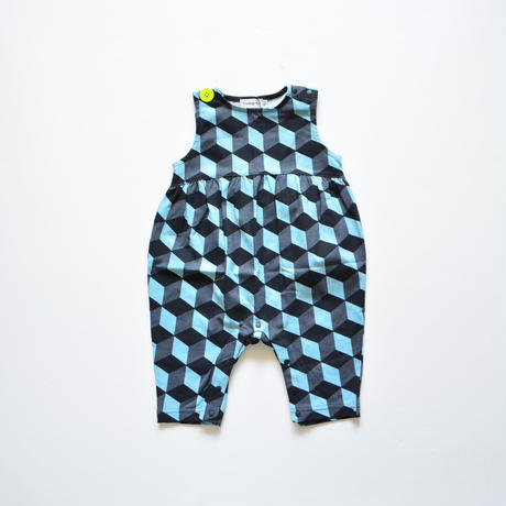 "【 franky grow 2020SS 】19SCS-351 NO SLEEVES ROMPURS "" ロンパース "" / GRAY CUBE"