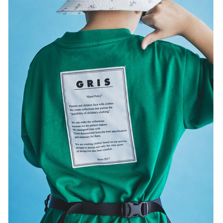 "【 GRIS 21SS 】""Policy name"" Big T-Shirt [GR21SS-CU003] ""Tシャツ"" / GRASS / S-L"