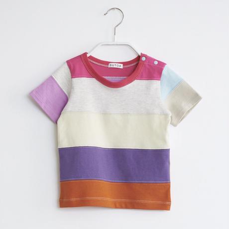【 SUTOA 】半袖ボーダーTシャツ / #2 / 90cm