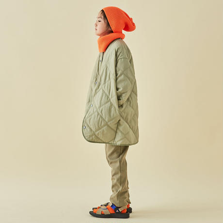 "【 MOUN TEN. 21AW 】quilt mitten coat ""コート"" / セージグリーン / 110-140cm"