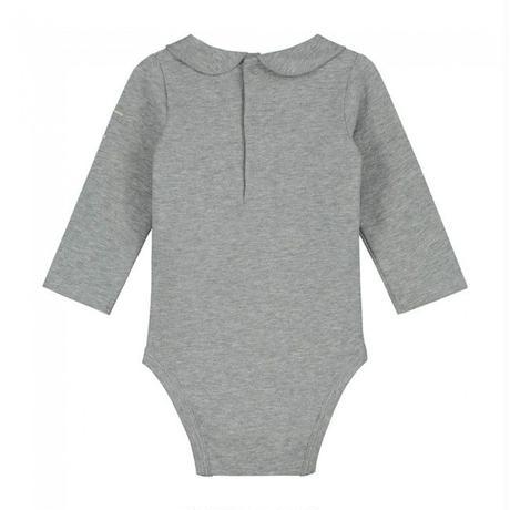 "【 GRAY LABEL 2020SS】Baby Collar Onesie  ""ロンパース"" / 70-80cm / Grey Melange"