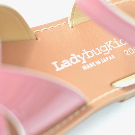 【 LADYBUG KIDS 】 日本の匠が作った クロスウェーブサンダル(1312) / ローズ / 16〜24cm