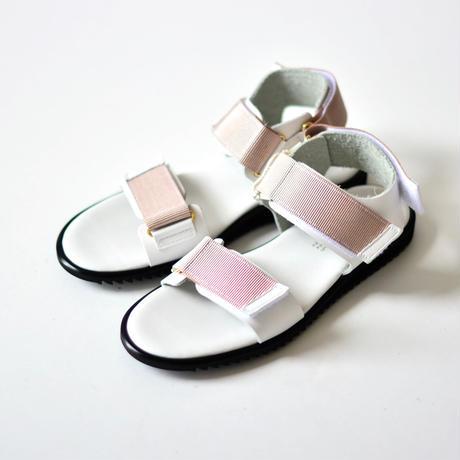 "【 NINOS 】WP Sandal(NTC021 ) "" 海水OK!レザーサンダル "" / White x Nude / 22.5 - 24.5cm"