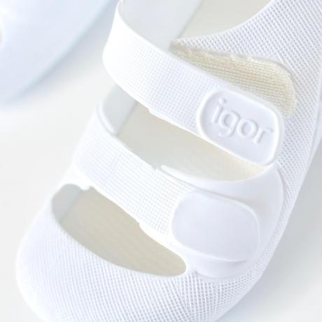 【 igor 20SS 】   BONDI SOLID / ホワイト / 12.5 - 16cm