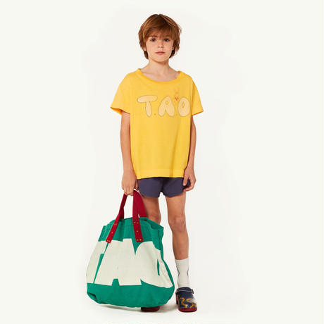 【 THE ANIMALS OBSERVATORY 2019SS 】ROOSTER KIDS T-SHIRT / yellow