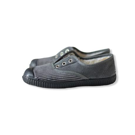 【 La Cadena 20AW 】 INGLES PARTIDO ELA Y.P. CLASSIC SLIP-ON / GREY × BLACK SOLE / 23.5〜24.5cm