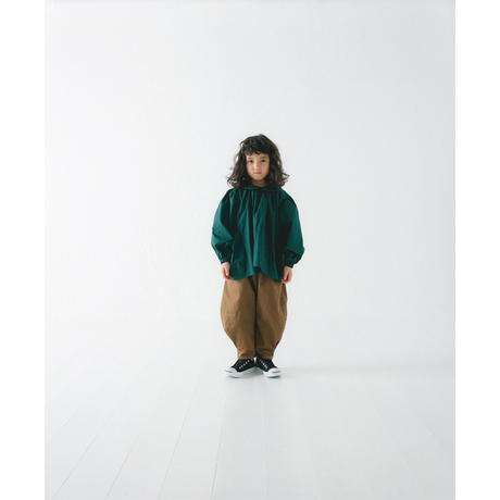 【 nunu forme 2018AW 】10-536-002 ドロップポケットブラウス / Green