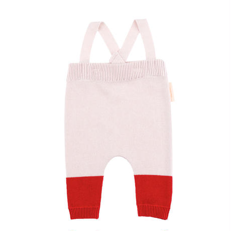 【tiny cottons 2017AW】AW17-175 color block baby pant /  pale pink / red