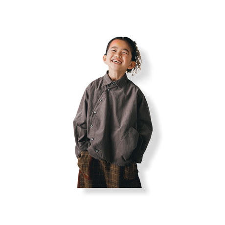 【 nunuforme 21AW 】サークルシャツ / 11-nf16-545-133 / Gray