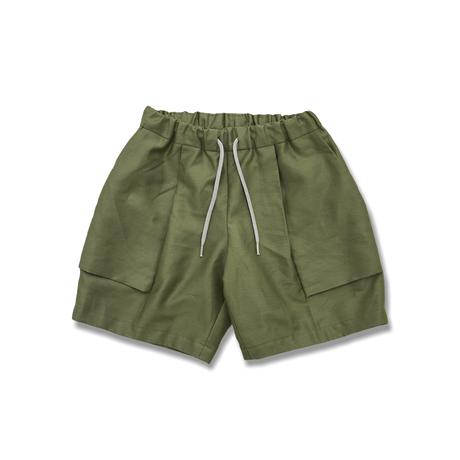 """【 MOUN TEN. 21SS 】C/L moleskin fatigue shorts [21S-MP51-0921a] """"パンツ"""" / khaki / 95-140"""