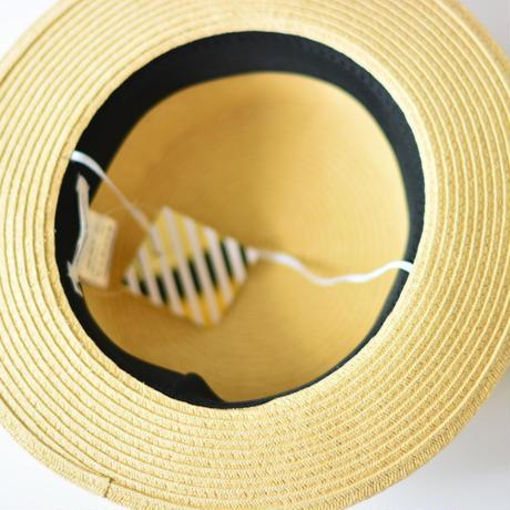 "【 Chocolatesoup 20SS 】PAPER BRAID KANKAN HAT "" カンカン帽 "" / GRAY"