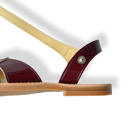 【 LADYBUG KIDS 】 日本の匠が作った クロスウェーブサンダル(1312) / プルーン / 18〜24cm
