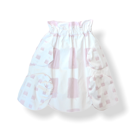 """【 franky grow 21SS 】ORIG. CHECK MIX SKIRT [21SBT-237] """" スカート """" / WHITE-PINK / LL(9〜11歳)"""