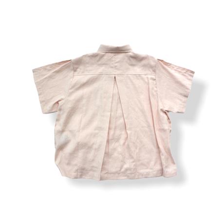 "【 UNIONINI 21SS 】BL-011 linen  big shirt  "" カラーシャツ ""  / pink"
