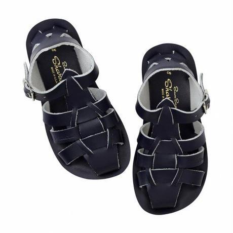 """【 Saltwater Sandals 】 海でも履けるソルトウォーターサンダル  """"Shark""""  / ネイビー / 16 - 19cm"""