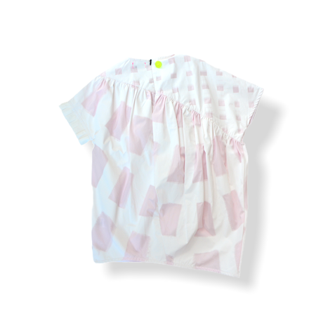 """【 franky grow 21SS 】ORIG. CHECK MIX  GATHER DRESS [21SOP-169] """" ワンピース """" / WHITE-PINK / LL(9〜11歳)"""