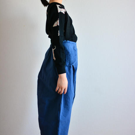 "【 folk made 20AW 】suspenders pants [F20AW-013] "" パンツ "" / blue x black"