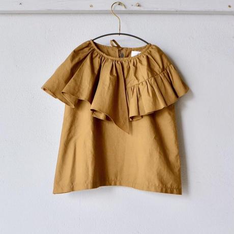 【 folk made 2018SS】No.21 flare blouse / ブラウンカーキ / 大人サイズ