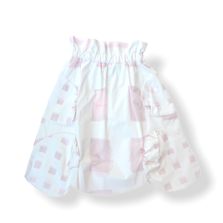 """【 franky grow 21SS 】ORIG. CHECK MIX SKIRT [21SBT-237] """" スカート """" / WHITE-PINK"""