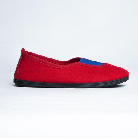 【 La Cadena 2019AW 】 GIMNASIA - Panel Slip On / RED x ROYAL BLUE / 19〜21cm