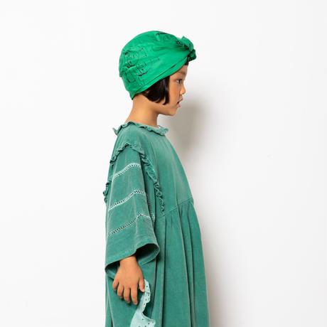 "【 folk made 21SS 】face print turban "" ターバン "" / green /  M"