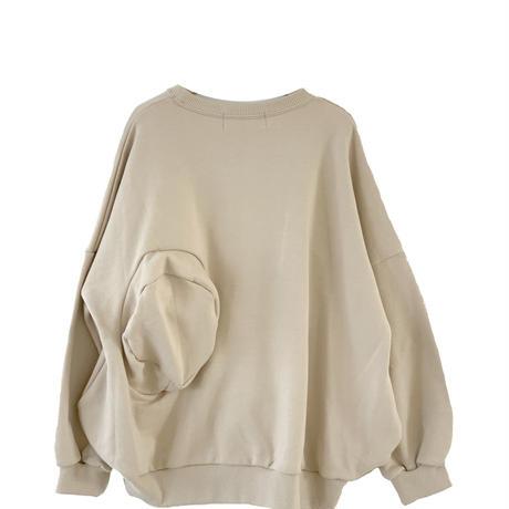 "【 UNIONINI 21AW 】◯△ sweat shirt / TR-020 "" スウェット ""  /  kinari / 1 - 12歳"