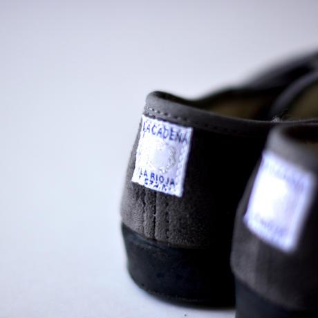 "【 La Cadena 21AW 】 BLUCHER VELCRO ""ローカットスニーカー"" / GREY x BLACK SOLE / 14〜21cm"